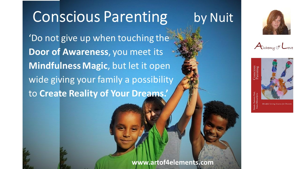 Conscious Parenting Mindfulness Training quote about mindfulness and self-development dreams, living highest potential