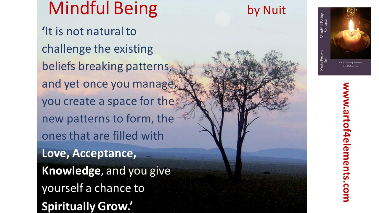 Mindful Being Mindfulness Training Quote by Nuit about new ways of thinking
