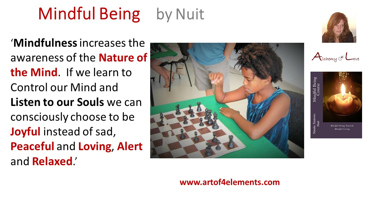 Mindful Being Mindfulness Training Quote by Nuit about Nature of Mind and Soul