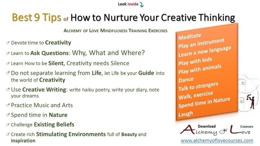 tips how to nurture creative thinking