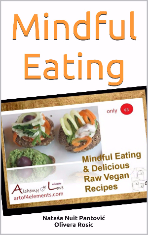 Mindful Eating Book with Raw Vegan Recipes